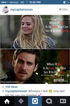CaptainSwan! i want to have emma's look on my face one day...and Hook's eye expression for me(: >3