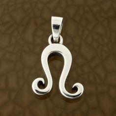 Leo-Zodiac-Symbol-Pendant-in-Solid-Sterling-Silver-Symbolic-Charm