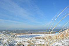 zandvoort aan zee in de sneeuw