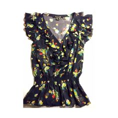 Forever 21 ruffled floral blouse Multi-color Floral Blouse. Ruffled. With buttons in-front. Condition: Excellent, gently worn. Forever 21 Tops Blouses