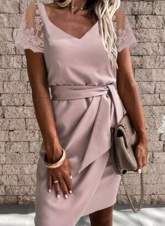 Pink Work Dresses, Office Dresses For Women, Pink Mini Dresses, Casual Summer Dresses, Summer Dresses For Women, Dress Summer, Spring Summer, Elegant Dresses, Sexy Dresses
