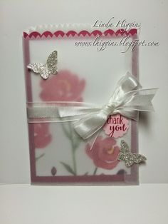 Painted Blooms DSP and a vellum Mini Treat Bag!  Click to see the products used to create this easy project.
