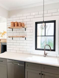 Saving Etta: Kitchen Update + Reveal Modern Farmhouse Kitchen with Sources! Beautiful Kitchen Designs, Beautiful Kitchens, Cool Kitchens, Diy Kitchen Projects, Kitchen Decor, Garden Projects, Kitchen Ideas, Diy Projects, Modern Farmhouse Kitchens