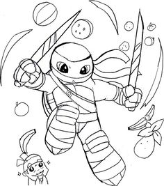 fruit ninja coloring pages