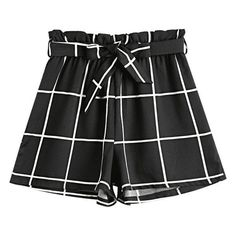 Bowknot Checked High Waisted Shorts ($30) ❤ liked on Polyvore featuring shorts, checkerboard shorts, highwaist shorts, high-waisted shorts, high-rise shorts and high rise shorts