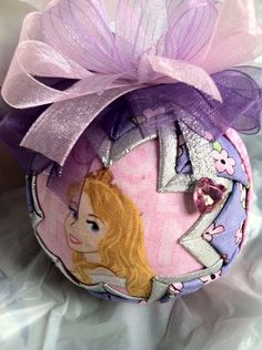 Disney's Sleeping Beauty Inspired Aurora Quilted Star Christmas Ornament on Etsy, $18.00