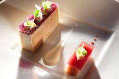 Pressé de foie gras, vin aux fruits