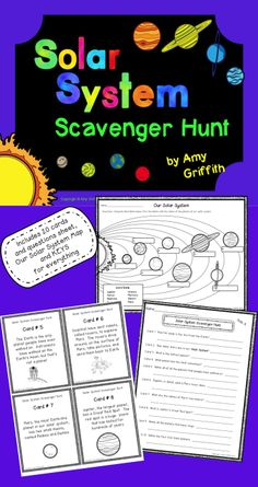 This Solar System Scavenger Hunt is a great way for students to learn interesting facts about our Solar System, while getting them up and out of their seats to look for cards throughout the room. Each card contains detailed information and the corresponding questions page allows students to record information found on the scavenger hunt fact cards. There is also a page with the Sun and the eight planets with a word bank for students to name the planets in the correct order.