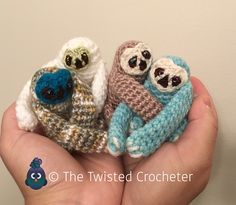 Crochet Amigurumi Baby Finger Sloth Pattern – FREE | The Twisted Crocheter