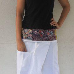 fabric  inside fold-over with white full length  Thai
