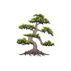 NOVICA Artisan Crafted Steel Wall Sculpture of a Tree (€110) ❤ liked on Polyvore featuring home, home decor, wall art, trees, green, wall decor, home wall decor, bonsai tree, novica and wall tree