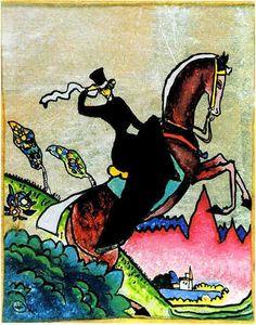 Wassily Kandinsky A Riding / State Art Museum of Azerbaijan Wassily Kandinsky, Franz Marc, Cavalier Bleu, Popular Paintings, Art Abstrait, Equine Art, Russian Art, Matisse, State Art