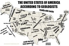 Map of US according to geologists. Click through for some other continents.