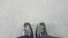 business man on the carpet floor with copyspace