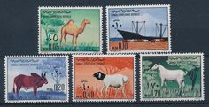[28371] Somalia 1972 Animals Mammals Camel Sheep Cow Goat MNH