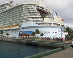 the cruise ship docked in port in St. Thomas