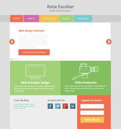 #Flat Design Final Practice, via Behance