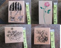 Spring has Spring Stamps by CraftyRedesigns on Etsy