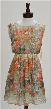 Alice + Olivia  Jewel Splatter Print Silk Blouson Dress