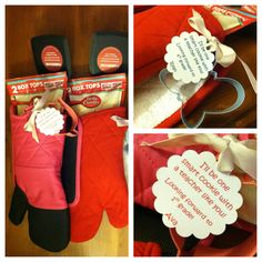 """Meet the teacher gift, teacher appreciation gift, end of the school year gift.  Oven mitt, pot holder, spatula, cookie mix and cookie cutter with a note or tag.  """"I'll be one smart cookie with a teacher like you!  Looking forward to 1st grade!"""""""