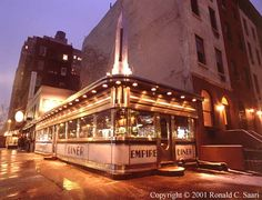 Empire Diner, built 1946.   210 Tenth Avenue at 22nd Street.