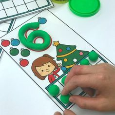 Playdough Ornament Counting Mats (from A Differentiated Kindergarten)