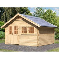 Gartenhaus Aus Holz SAULIEU 12 M² Behandelter Autoklav Braun #Gartenhaus  #GartenhausausHolz #Garten #äußere #Schutz | OOGarden   Holz Gartenhaus |  Pinterest
