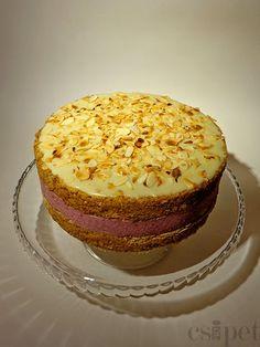 egycsipet: Málnás-mandulás torta