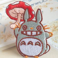 My Neighbor Totoro Patch Embroidered Iron on Patch Sew on Patches Iron on Applique by FeltFabricool on Etsy