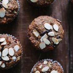 Pear and cacao nib buckwheat muffins