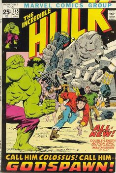 Incredible Hulk #145. It's the Hulk vs the Ancient Egyptian gods and the Sphinx. #Hulk