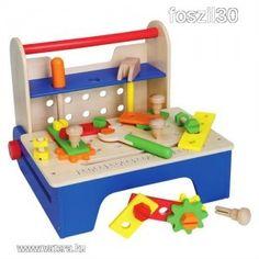 Fa nyitható munkapad szerelő barkács játék AKCIÓ! - 7800 Ft