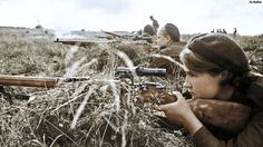 Soviet female snipers 1943