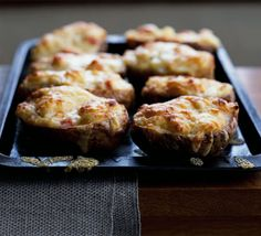 These cheese-stuffed baked potatoes from Normandy make a great supper especially with a glass of cider from BBC Good Food Turkey Mince, Braised Cabbage, Stuffed Baked Potatoes, How To Cook Ham, Bbc Good Food Recipes, Cooking Recipes, Potato Cakes, Potato Skins, Gluten Free Baking
