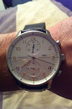 IWC Portuguese Chronograph Automatic Stainless Steel Watch IW371401 3714