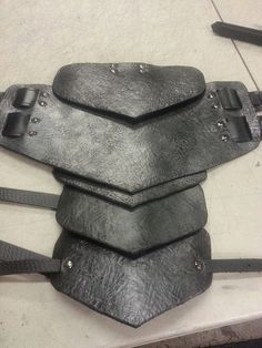 Sentinel Segmented Double Strap Leather Shoulder Armor on Etsy, $149.99