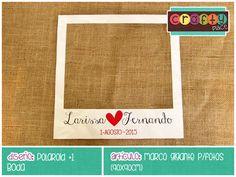 Marco gigante de Polaroid - Boda… Podemos personalizarla con cualquier tema! • Polaroid giant photo frame - Wedding... We can personalize it with any party theme!