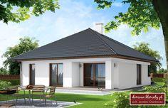 Projekt domu Bagatela 86.30 m² - Domowe Klimaty Design Case, Bungalow, Building A House, Gazebo, Eco Friendly, House Plans, Shed, Outdoor Structures, Fire