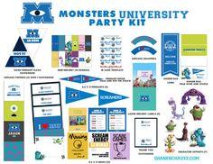 Monsters University Party Kit Boy/Girl // DIY by schavez on Etsy