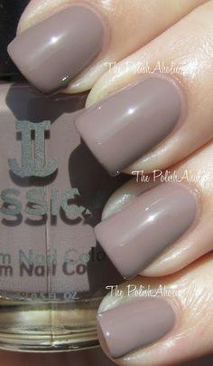 Jessica Custom Colour Flutter - a gorgeous subtle taupe creme.
