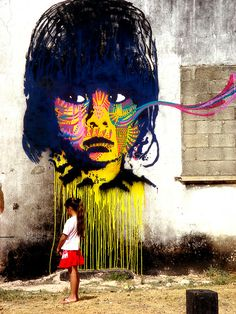 Guatemalan street art by Bastardilla