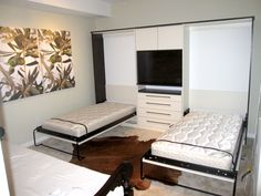 Bedroom Wall Bed Space Saving Furniture And Tv Stand Also