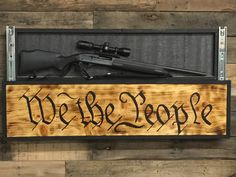 Show your patriotism with my one of a kind hand crafted pine We The People concealment sign. Constructed of all solid wood, hand painted, torched and coated it polyurethane. This will look great on yo