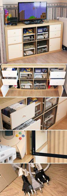 This is how to #hack an #Ikea #Expedit / #Kallax into a #retro #gaming cabinet!