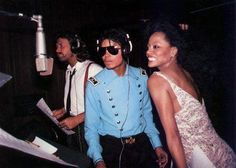 Michael Jackson with Diana Ross and Barry Gibb