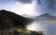 John Frederick Kensett (American 1816–1872) [Luminism, Hudson River School, Marine, Landscape] View on the Hudson, 1865. Jane Voorhees Zimmerli Art Museum. The Athenaeum