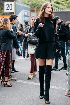 Street style à la Fashion Week printemps-été 2017 de Paris Cat McNeil