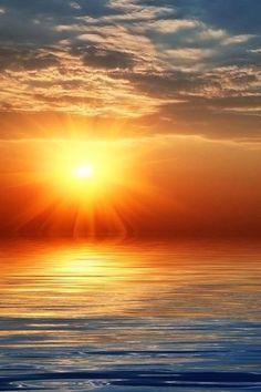 Sunset. Coast.Beautiful organization of nature.