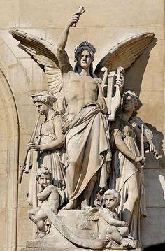 Musique Instrumentale (h. 1860-69) Jean-Baptiste Claude Eugene Guillaume (Francia, 1822-1905) Academicismo Pompier  Ópera Garnier, París