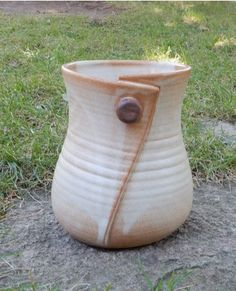 Handmade Pottery Button Utensil Holder by sonjagloria on Etsy